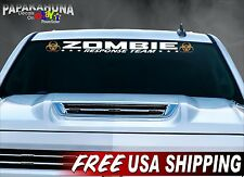 "40"" ZOMBIE RESPONSE TEAM Vehicle Decal Halloween Wall Prop Vinyl Car Props Decal"