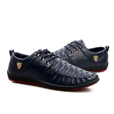 Men's Sneakers Driving Moccasins Leather Casual animals Loafers lace up Shoes