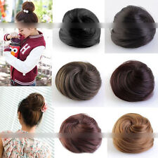 Stylish Pony Tail Women Clip in/on Hair Bun Hairpiece Extension Scrunchie TB