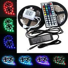 5M/10M 3528 SMD RGB 300 LED Light Strip+44 Key IR Remote Controller+Power Supply