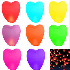 10pcs Heart Shape Chinese Lanterns Paper Sky Fire Lamp For Wish