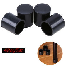 4x Rubber Round Furniture Chair Table Leg Feet Cover Cap Protector Black 4 Sizes