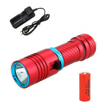 Diving Waterproof 6000LM XML U2 LED SCUBA Dive Flashlight Torch 26650 Light Lamp