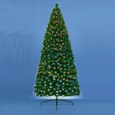 7/6/5/4 Ft  Xmas CHRISTMAS TREE FIBRE OPTIC BURST GREEN PINE LOOK METAL STAND