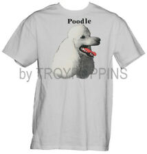 1-POODLE WHITE FACE BREED PET LOVER WEAR APPAREL MENS GRAPHIC PRINTED T-SHIRT