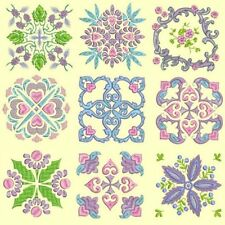 Anemone Quilt Squares 5 Machine Embroidery Designs CD- 36 Anemone Designs