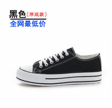 New Womens lady Classic Sneaker Canvas Shoes leisure High Low Trainer B011