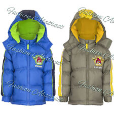 Boys Coat Angry Birds Jacket Padded Hooded Winter Kids Official 4 to 10 Years