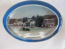 VINTAGE 1980's OVAL GLASS  PAPERWEIGHT - WORTHING GOLF CLUB