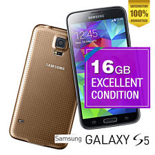 Samsung Galaxy S5 4G 16GB SM-G900I 16MP Gold Android Phone 100% Unlocked