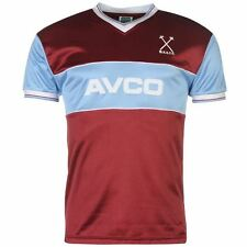 Score Draw Mens West Ham United Football Club 1983 Home Jersey Sports T Shirt