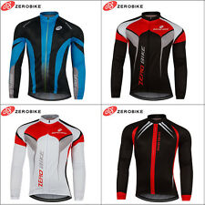 Men Team Cycling Long Sleeve Tops Bicycle Jersey Racing Clothing Sports Wear New