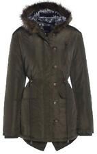 Womens Woodford Quilted Fishtail Parka Coat / Jacket - Fur Trim Hood