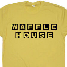 Waffle House t shirt vintage retro coffee  funny mens womens geek Tee
