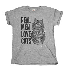 Real Men Love Cats Funny Mens & Ladies Unisex Fit T-shirt