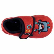 Heatons Kids Velc Strap Slippers Home Indoor Slip On Textile Shoes Infant Boys