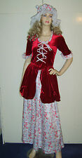 LADIES VICTORIAN MAID SERVING WENCH PEASANT WOMAN FANCY DRESS COSTUME 8-10 USED*