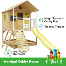 Lifespan Kid Warrigal Wooden Big Cubby Wooden Play House for Backyard Playground