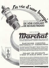 1926 Print Ad Marchal Auto Sparking Plug Chrome Plated Elctrodes