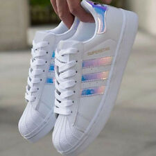 Women's Fashion Leather Casual Lace Up Sneakers Running Trainer Shoes-Superstar