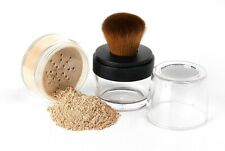 2 pc Kabuki Brush Foundation Kit Mineral Makeup Bare Face Sheer Powder Cover Set