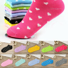 Women 5/10Pairs Mixed Candy Heart Sport Socks Ankle Low Cut Casual Cotton Sock