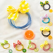1Pcs Women Cute Harajuku Fruits Bowtie Hair Clips Kawaii Hair Band Accessories