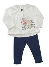 Girls Outfit Leggings Long Sleeve Top Set Adorable Bunny Theme NB to 5-6 Years