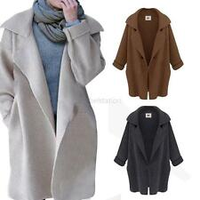 Winter Women's Long Sleeve Jacket Knitted Cardigan Coat Parka Trench Outwear New