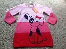 NEW Gymboree Toddler Girl 2T 3T FUN AT HEART Red Sweater Dress Animal NWT