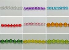 200 Transparent Acrylic Faceted Bicone Spacer Beads 10X10mm Pick Your Color