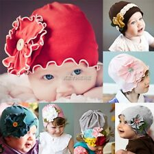 New Baby Girl Toddler Cotton Flower Hat Soft Headwear for New Born to 3yrs K0E1