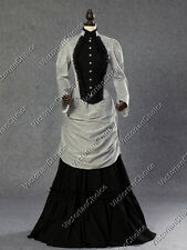 Victorian Edwardian Bustle Dress Gown Riding Habit Steampunk Punk Clothing 139