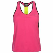 USA Pro Womens Muscle Back Training Vest Breathable Sleeveless Round Neck Top
