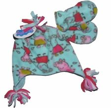 Girls Peppa Pig Hat 1-3yr and 4-6yr  Pink Fleece Hat with 100% Cotton Lining