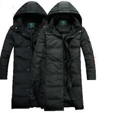 Mens Casual Winter Duck Down Long Coat Parka Hooded Thick Outwear Overcoats Sz