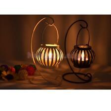Black/White Wedding Pumpkin Hanging Stand Candle Holder Tea Light Candlestick