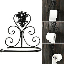 1pc Vintage Retro Iron Toilet Paper Towel Roll Holder Bathroom Wall Mount Rack