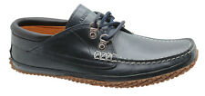 Timberland Abington Camp Oxford Boat Mens Shoe Leather Navy Casual 6346A D77