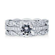 BERRICLE 925 Silver Cubic Zirconia CZ Solitaire Engagement Ring Set 1.66 Carat