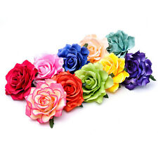 Layered Sturdy Petals Rose Flower Flamenco Dual Hair Clip Brooch Pin Backing