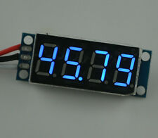 "DC 0-100V Blue Red Green 0.36"" LED 4 Digit Digital Voltmeter Voltage Panel Meter"
