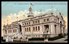 Fisheries Building AYP Exposition Seattle Washington 1909 Colored Postcard
