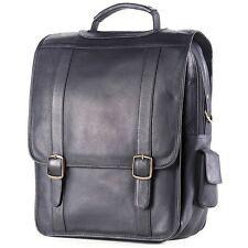 "Clava Leather Vachetta Porthole Vertical 15"" Laptop Briefcase"