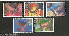 1998 Great Britain SC #1834-38 Christmas Angels Set of 5 MNH stamps