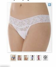 NWT Hanky Panky Signature Lace Low Rise Thong 4911 WHITE O/S