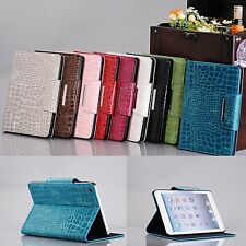 Flip Cover Crocodile Leather Magnetic Smart Stand Case For iPad Mini 1/2/3 Gen