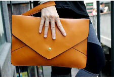 Fashion Envelope Clutch Bag Women Handbag Tote Shoulder Messenger Bag PU Purse