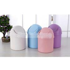 Mini Office Table Desk Trash Can Waste Rubbish Bin Dustbin Car Garbage Holder