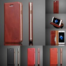 Real Genuine Flip Luxury Leather Wallet Case Case Cover Skin For iPhone 7/7 Plus